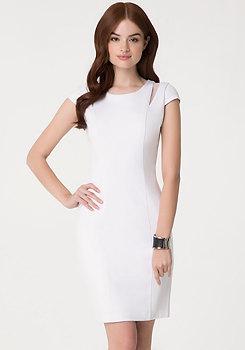bebe Ponte & Organza Dress