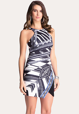bebe Asymmetric Racerfront Dress