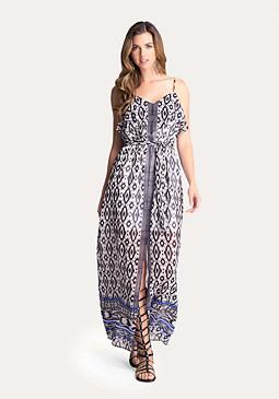 bebe Print Georgette Maxi Dress