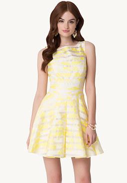 Floral Fit & Flare Dress at bebe