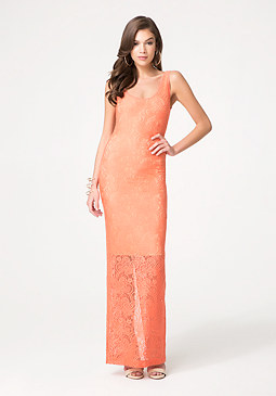 bebe Isa Lace Maxi Dress