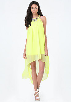 Chiffon Overlay Hi-Lo Dress