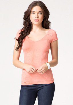 bebe Rumba Textured Top