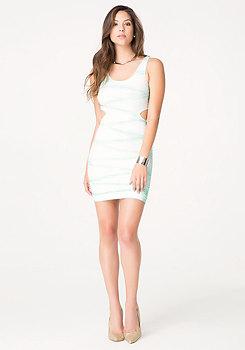 bebe Textured Tie Dye Tank Dress