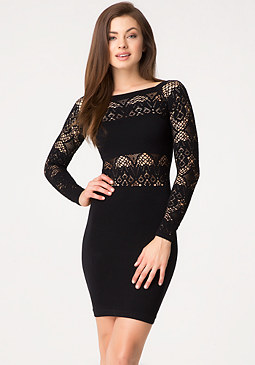 bebe Lace Accented Dress