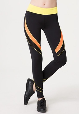 bebe Contrast Piping Leggings