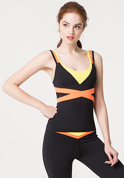 bebe Contrast Layered Cami