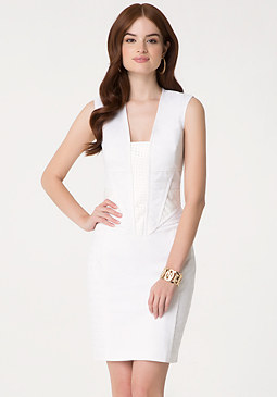 bebe Ella Paneled Dress