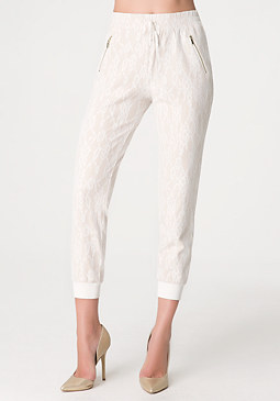 bebe Bonded Lace Track Pants