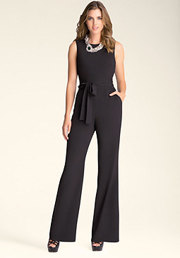 bebe Kelly Zip Back Jumpsuit
