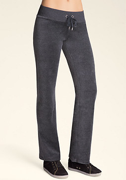 Petite Logo Velour Pants at bebe