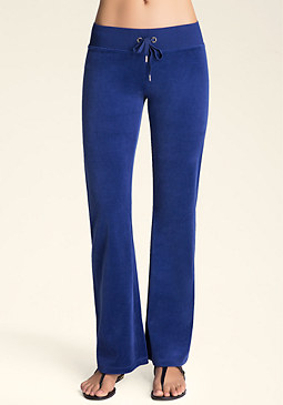 Petite Solid Velour Pants at bebe