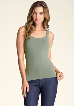 bebe Sweetheart Neck Tank
