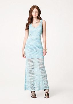 bebe Pointelle Maxi Dress