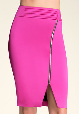bebe Tiana Zipper Pencil Skirt