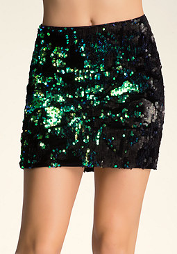 Sequin Miniskirt at bebe