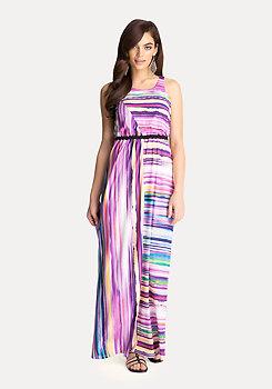 bebe Colorful Striped Maxi Dress