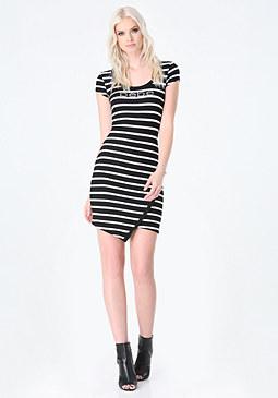 bebe Asymmetric Hem Dress