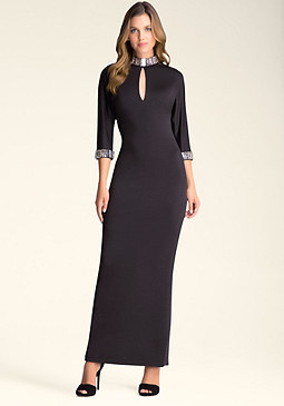 Petite Dolman Sleeve Gown at bebe