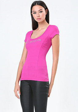 bebe Logo Princess Seam Top