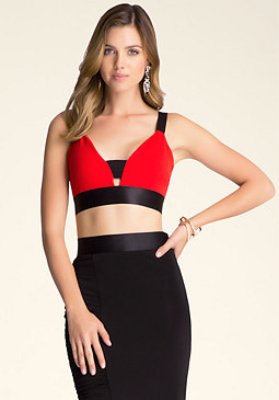 bebe Strappy Bra Top