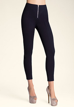 bebe High-Waist Zip Leggings