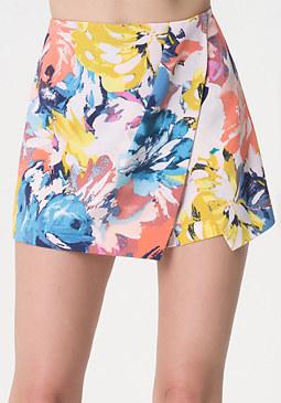 bebe Print Overlay Shorts