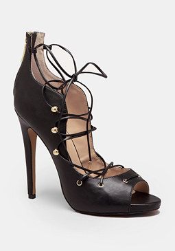 bebe Delaney Lace-Up Pumps