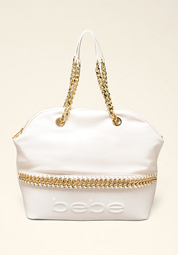 bebe London Logo Satchel