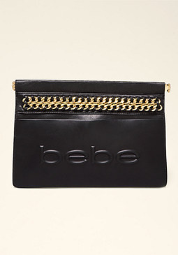 bebe London Logo Clutch