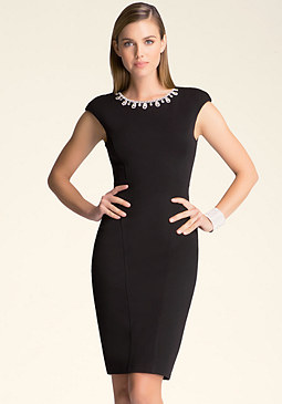 bebe Necklace Midi Dress