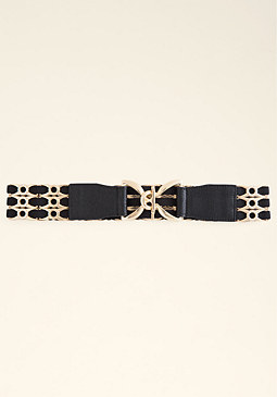 bebe Metal Slider Stretch Belt