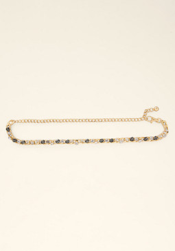 bebe Jeweled Chain Belt