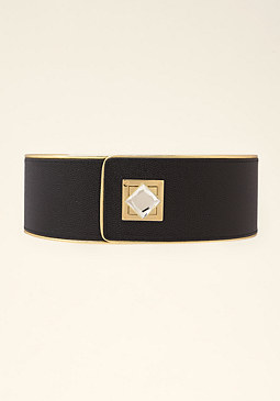 bebe Jeweled Stretch Belt