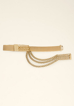 bebe Wide Snake Chain Belt