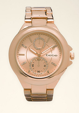 bebe Bezel Boyfriend Watch