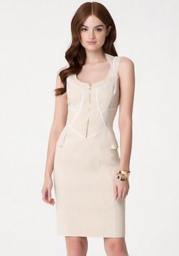 bebe Lexia Linen Midi Dress