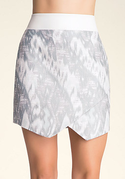 bebe Pastel Jacquard Skirt