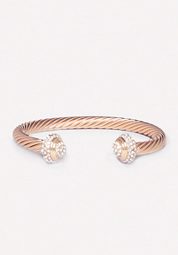 Twisted Metal & Stone Cuff at bebe