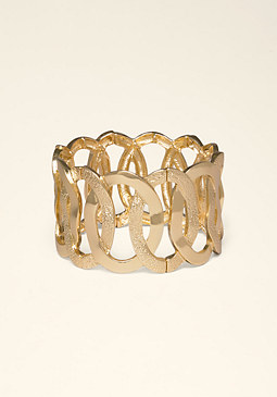 bebe Interlocked Circle Bracelet