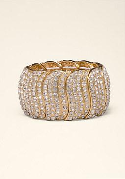 bebe Wavy Crystal Bracelet