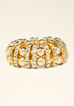 bebe Tonal Metal Beaded Bracelet