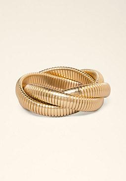 bebe Twisted Chain Bracelet