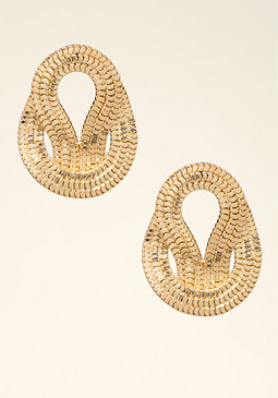 bebe Snake Chain Button Earrings