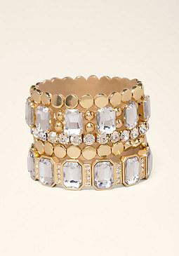 bebe Square Crystal Bracelet