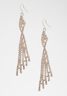 bebe Crystal Fringe Earrings