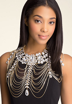 bebe Over the Top Body Chain