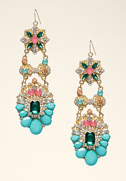 bebe Multi-Stone Earrings