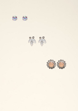 bebe Trio Opal Stone Earrings