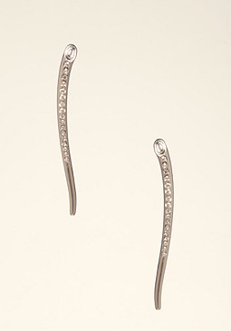 bebe Slim Crystal Earrings